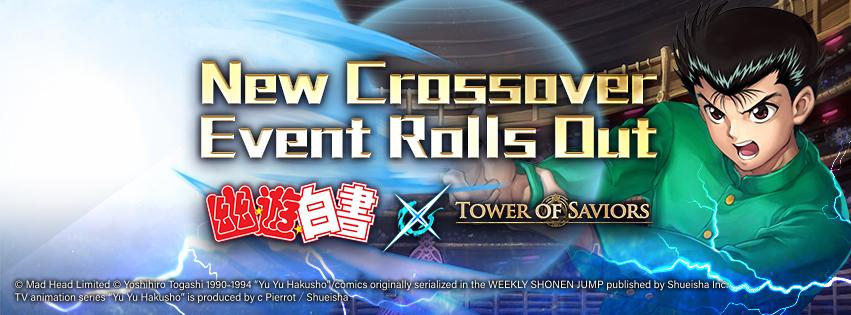 """""""Tower of Saviors"""" 15.4 Version Updates on """"TOS☆Hakusho"""""""